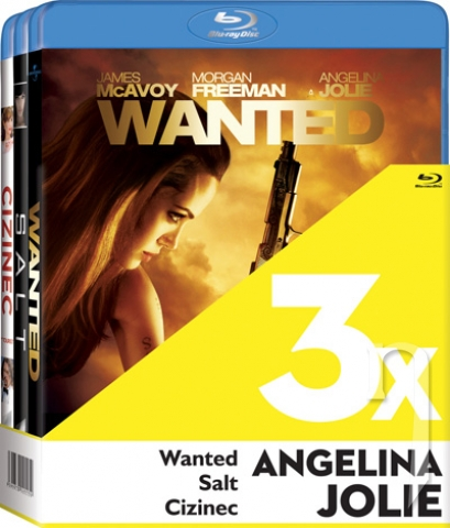 BLU-RAY Film - 3x Angelina Jolie (Cizinec, Wanted, Salt - 3Bluray)