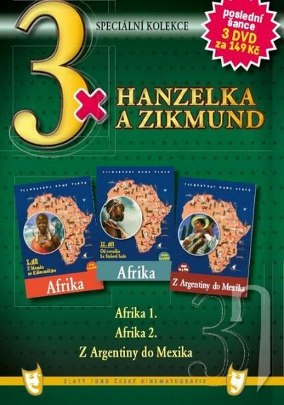 DVD Film - 3x Hanzelka a Zikmund 3 DVD (pap. box) FE