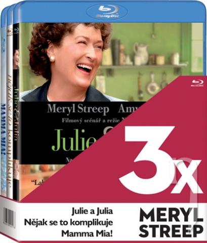 BLU-RAY Film - 3x Meryl Streep  (Nějak se to komplikuje, MammaMia!, Julie a Julia - 3 Bluray)