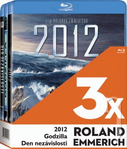 BLU-RAY Film - 3x Roland Emmerich  (2012, Godzilla ,Den nezávislosti - 3 Bluray)