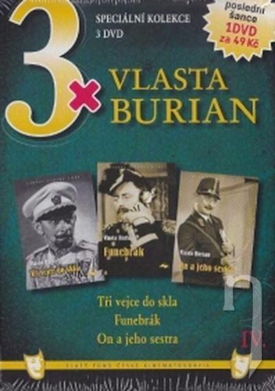 DVD Film - 3x Vlasta Burian IV.  FE