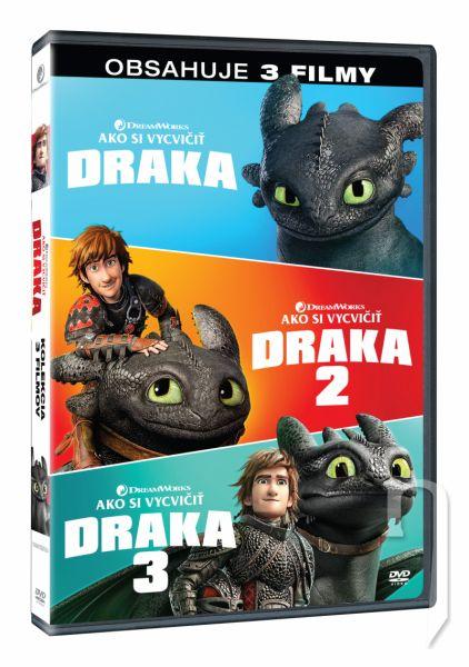 DVD Film - Ako si vycvičiť draka kolekcia 1.-3. 3DVD