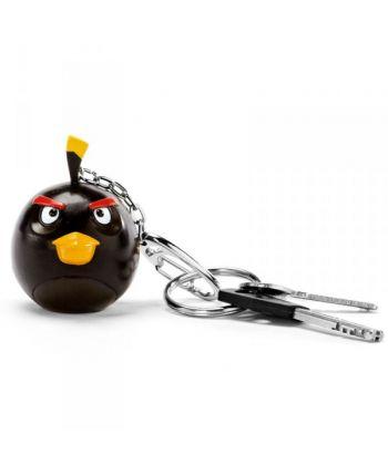 Angry Birds čierny - kľúčenka