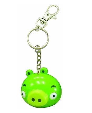 Angry Birds Pig zelený - kľúčenka