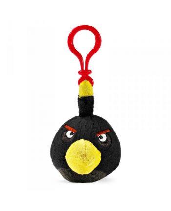 Plyšový Angry Birds čierny - prívesok