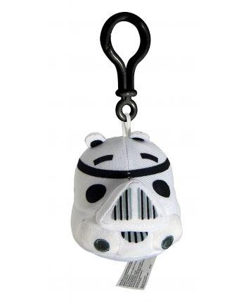 Plyšový Angry Birds - Star Wars Trooper biely - prívesok