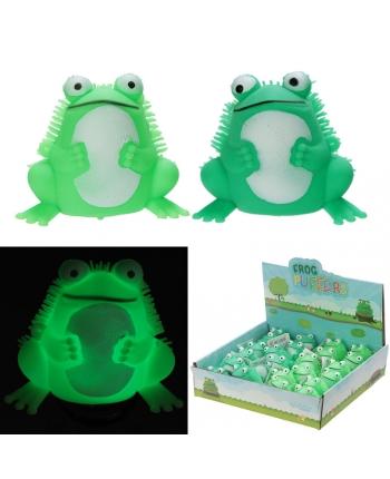 Antistresová žaba so svetlom - displej 24 ks (6 cm)