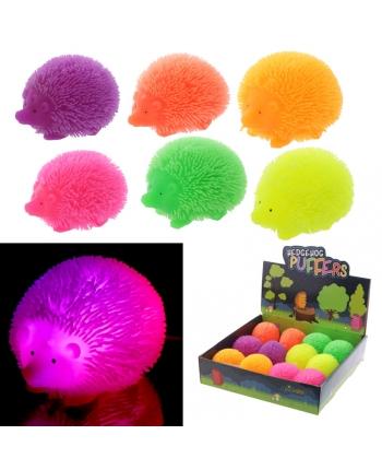Antistresový ježko so svetlom - displej 12 ks (7,5 cm)