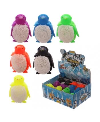 Antistresový tučniak so svetlom - displej 12 ks (9 cm)