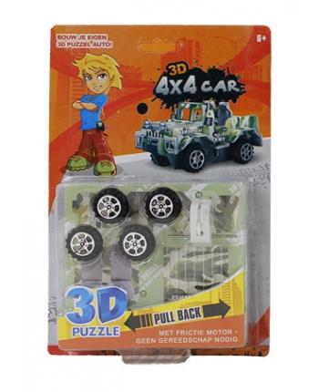 Auto 3D skladacie (13x19,5cm) - 3 druhy