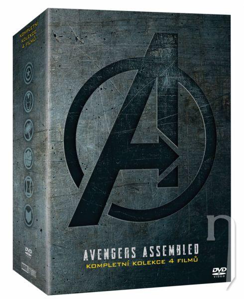 DVD Film - Avengers kolekce 1.-4. (4DVD)