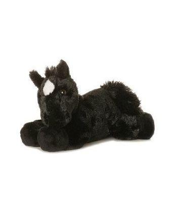 Plyšový čierny koník Beau - Flopsie  (20,5 cm)