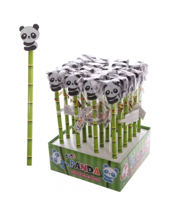 Ceruzka s gumou s pandou - displej 24 ks (20 cm)