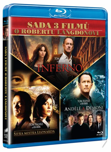 BLU-RAY Film - 3 BD Dan Brown