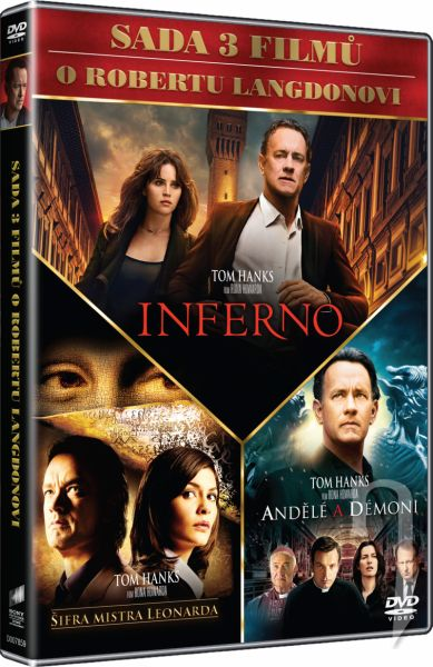 DVD Film - Dan Brown (3 DVD)