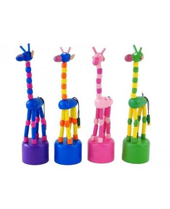 Drevená korálková žirafa ohýbacia - rôzne druhy (17,5 cm)