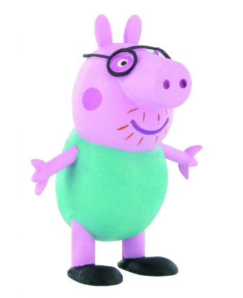 Figurka Papa s brýlemi - Prasátko Peppa (6 cm)