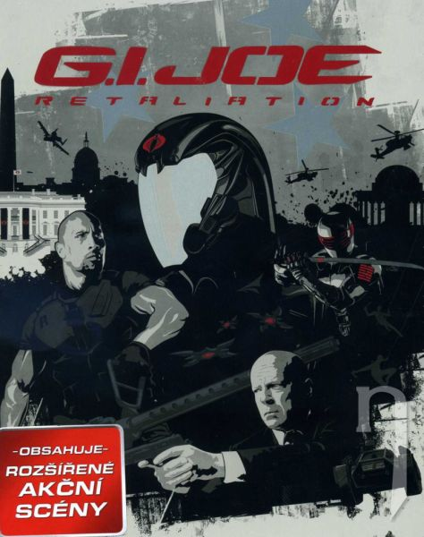 BLU-RAY Film - G.I. Joe 2: Odveta (3D + 2D) - Steelbook