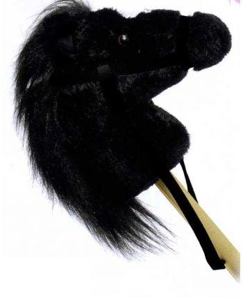 Plyšový poník čierny na palici