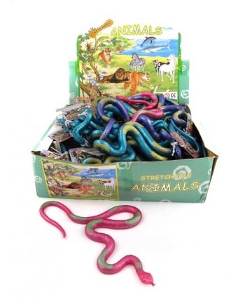 Gumený had - metalické farby - displej 48 ks (30 cm)