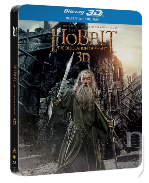 BLU-RAY Film - Hobit: Smaugova Pustatina 3D+2D (4 Bluray - Steelbook)