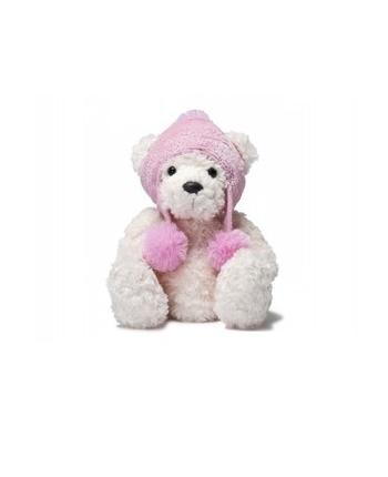Plyšový medvedík Holly s ružovou čiapkou - Bear Collection (25,5 cm)