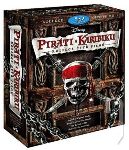 BLU-RAY Film - Kolekce: Piráti z Karibiku 1.- 4. (4 Bluray)
