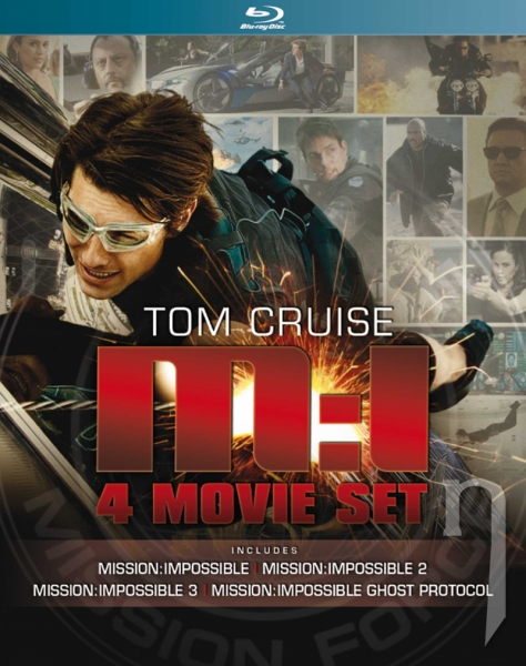 BLU-RAY Film - Kolekce: Mission Impossible I. - IV. (4 Bluray)