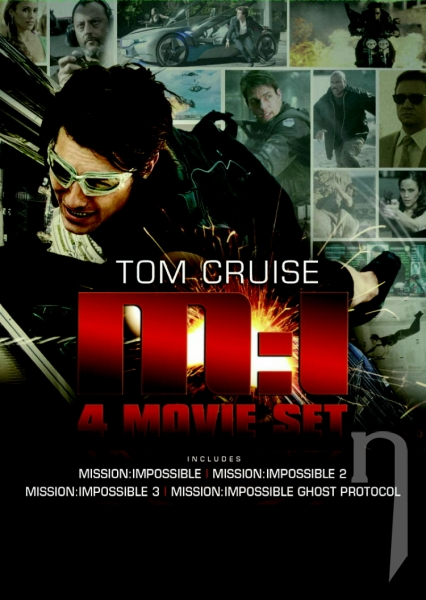 DVD Film - Kolekce: Mission Impossible I. - IV. (4 DVD)