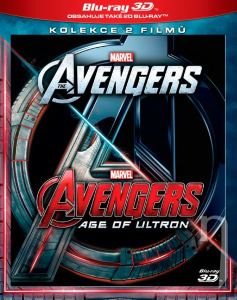 BLU-RAY Film - Kolekcia: Avengers 1+2 3D/2D (4 Bluray)