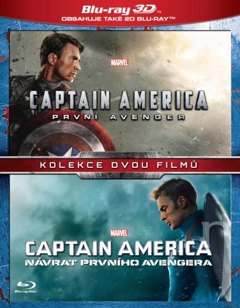 BLU-RAY Film - Kolekcia Captain America (4 Bluray)