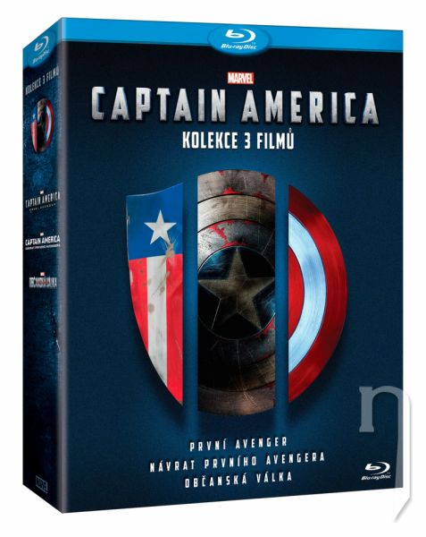 BLU-RAY Film - Kolekce Captain America (3 Bluray)