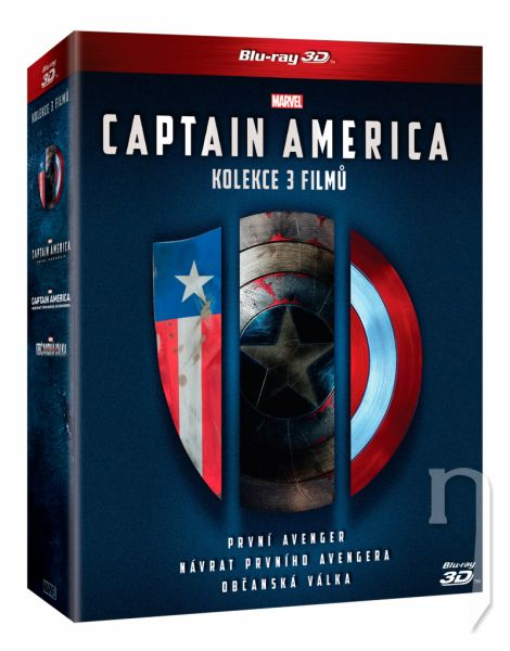 BLU-RAY Film - Captain America trilogie 1.-3. 6BD (3D+2D)