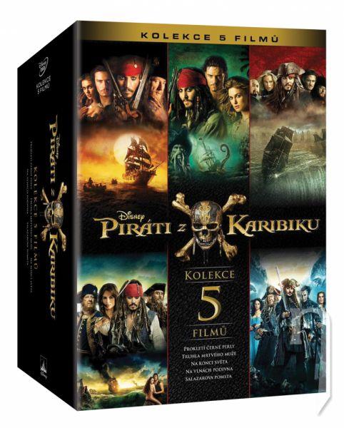DVD Film - Kolekce: Piráti z Karibiku 1- 5 (5 DVD)