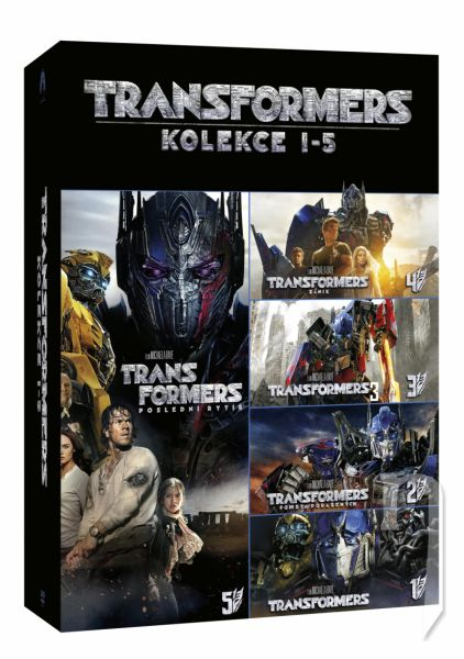 DVD Film - Kolekcia: Transformers: 1 - 5 (5 DVD)