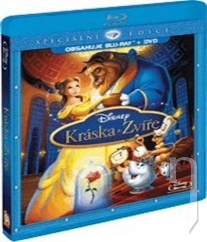 BLU-RAY Film - Kráska a zvíře (Bluray + DVD combopack)
