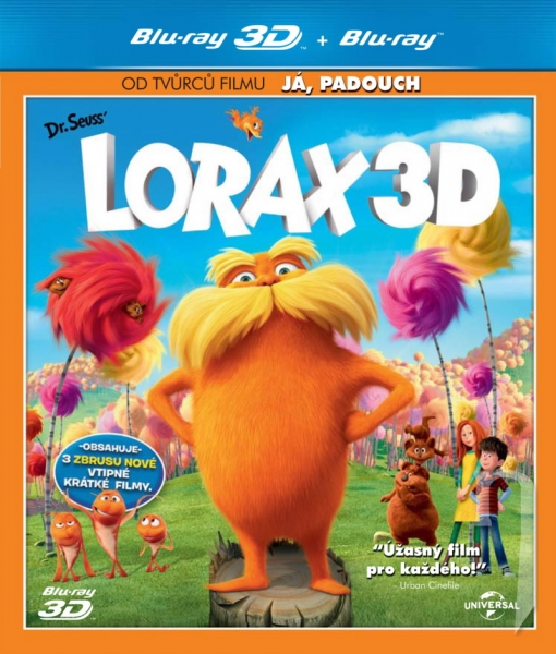 BLU-RAY Film - Lorax (3D + 2D Bluray)