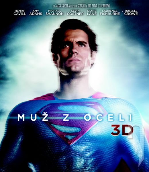 BLU-RAY Film - Muž z ocele 3D/2D (2 Bluray)