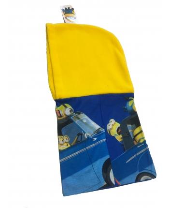 Nákrčník s kapucňou - Mímoň - žltá