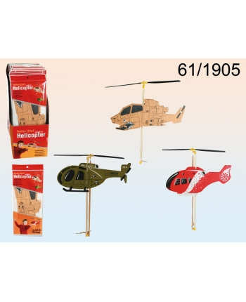 Penový vrtulník naťahovací na gumičku - 13 x 30 cm