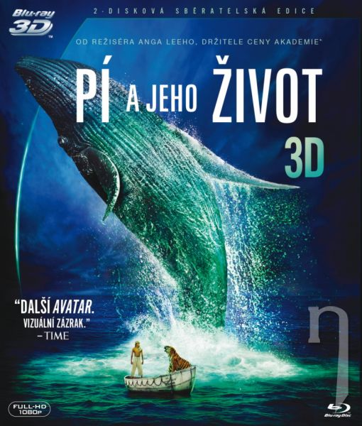 BLU-RAY Film - Pí a jeho život 3D (2 Bluray)