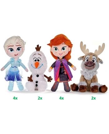 Plyšáci Frozen - Elsa, Anna, Olaf a Swen - 12 ks v displeji