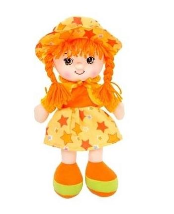 Plyšová bábika Marienka - hovoriaca - oranžová (31 cm)