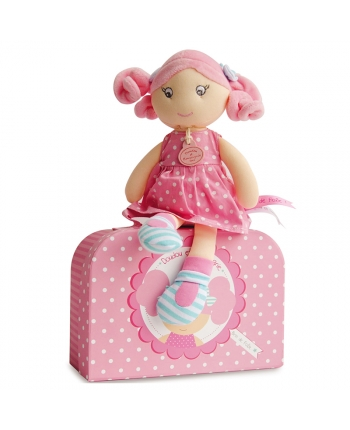 Plyšová panenka Rose Bonbon v kufříku - Dou Dou (28 cm)