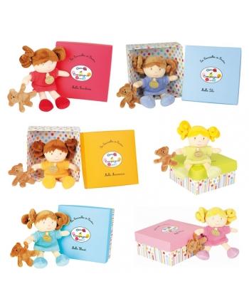 Plyšová bábika s malým mackom v škatuľke - Dou Dou - séria 1 (20 cm)