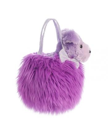 Plyšová kabelka fialová so psíkom - Fancy Pals (20,5 cm)