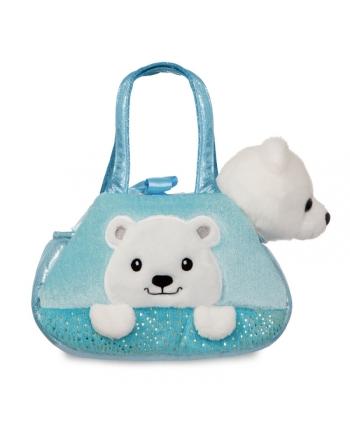 Plyšová kabelka modrá s ľadovým medveďom - Fancy Pals (20,5 cm)