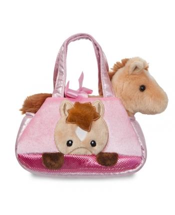 Plyšová kabelka ružová s koníkom - Fancy Pals (20,5 cm)