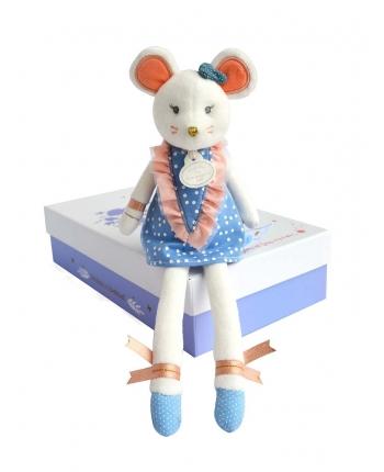 Plyšová myška tanečnica v škatuľke - Dou Dou (26 cm)