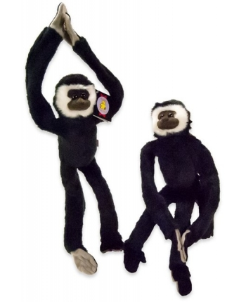 Plyšová opica čierno-biela (44 cm)